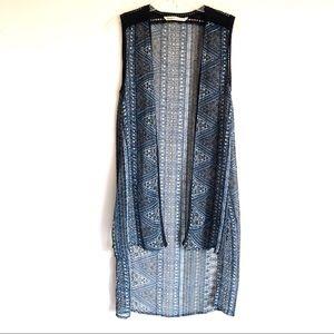 Hippie Laundry Open Front Duster Vest
